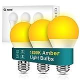 Neporal Amber Light Bulbs 9W, Soft Warm Sleep Light Bulbs 60W Equivalent, Blue Light Blocking Amber Night Light Bulbs 1800K, Bedtime Light Bulb for Healthy Sleep.