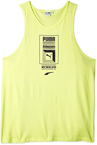 Puma Camiseta sin Mangas con Logotipo Hombre Púrpura