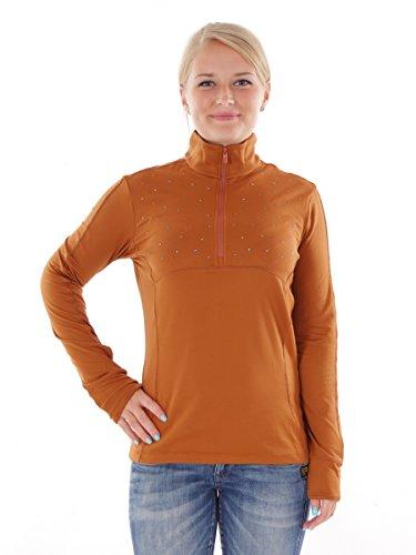 CMP Sweat-Shirt Loisirs Marron T-Shirt Manches Longues col Stretch léger Taille 38 3l12566