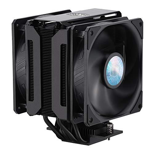 Cooler Master MasterAir MA612 Stealth, Enfriador de CPU con 2 ventiladores de 120 mm, Negro
