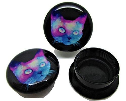Pierced Republic Space Cat 耳栓 アクリル ねじ式 8サイズ