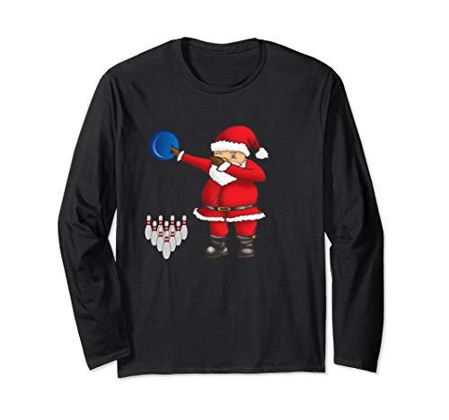 Dabbing Weihnachtsmann Weihnachten Lustige Bowling Langarmshirt