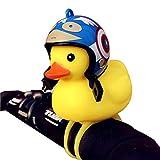Luz y pito de bicicleta con forma de pato, para niños y adultos, con clip para enganchar al manillar