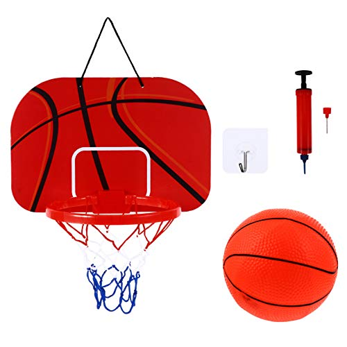 IMIKEYA Basketball Hoop Indoor Wall Door Hanging Mini Basketball Goal...