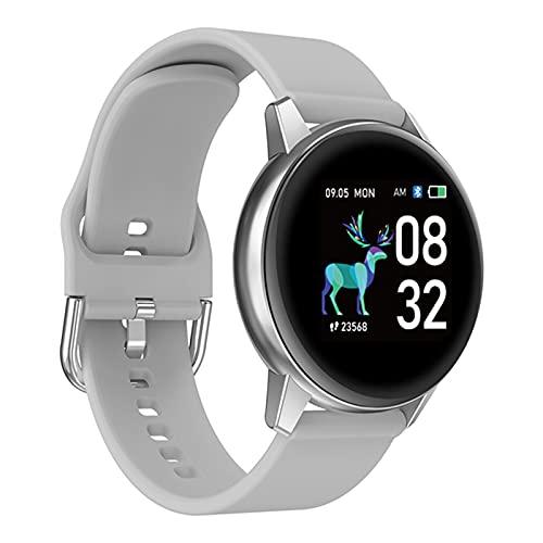 zyz R3 Ladies Smart Watch IP68 Impermeable, Ritmo cardíaco y monitoreo de la presión Arterial, Rastreador de Fitness, Reloj Deportivo para Hombres,Gris