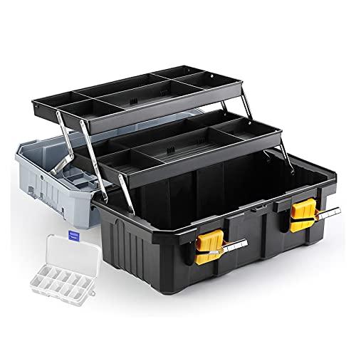 Caja de Herramientas de Servicio Caja de Herramientas para el hogar Organizador de reparación de automóviles de Camiones para alicates de Martillo Caja de Almacenamiento de la Bandeja de Herramientas