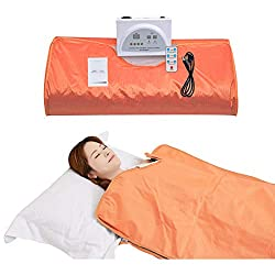 UDINEK Infrared Personal Sauna Blanket 2 Zone with Overheating Protection Blanket Digital Body Sauna Heating Far Infrared Portable Wrap Home Sauna Blanket Oxford for Detox Relax at Home