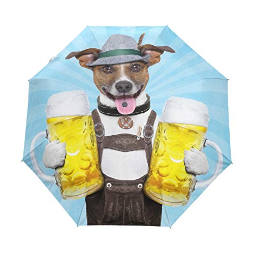 Klappschirm Mode Vollautomatischer Hund Mit Bier Regenschirm Sonne Frauen Falten Sonnenschirm Marke Regen Kinder Regenschirme Für Männliche Geschenk