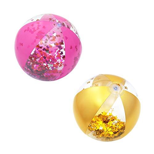 Bestway 31050 Glitter 28 cm aufblasbarer Glitzer-Wasserball, Color