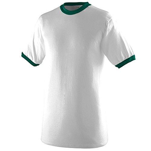 Youth Ringer T-Shirt WHITE/ DRK GREEN M