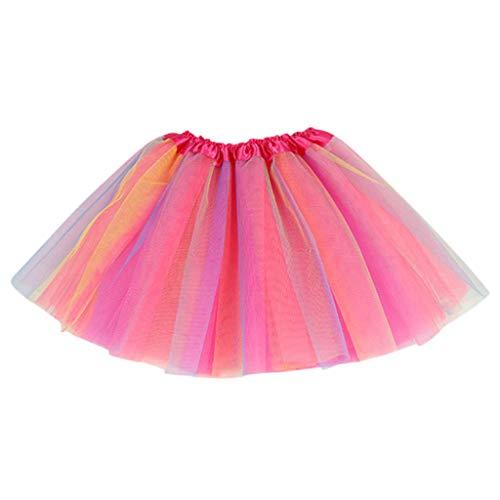Briskorry Tüllrock Kinder Mädchen Tupfen Sterne Pailletten Mesh Tutu Rock Puff Pailletten Prinzessin Tutu Rock Outfits Kostüm
