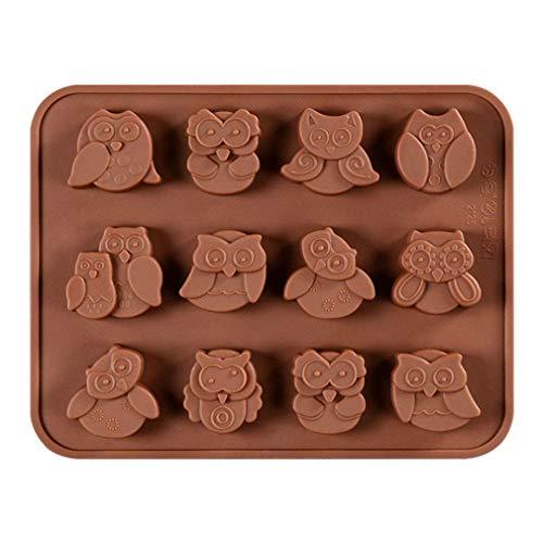 KBstore Stampo in Silicone per Cioccolato - Forma di Gufo Stampi in Silicone per Cioccolatini/Caramelle al caffè/Cubetti di Ghiaccio/Gelatina/Mini Sapone #1