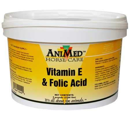 AniMed Vitamin E and Folic Acid Supplement for Horses, 5-Pound
