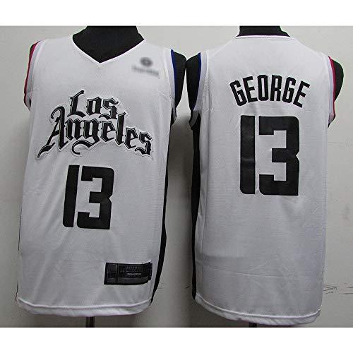 LSJ-ZZ Y de los Hombres de Las Mujeres Camiseta de la NBA Clippers # 13 Paul George, de Malla Transpirable de Tela Retro Alero Deportes Camisetas, Uniforme de Baloncesto Unisex,M(175cm/65~75kg)
