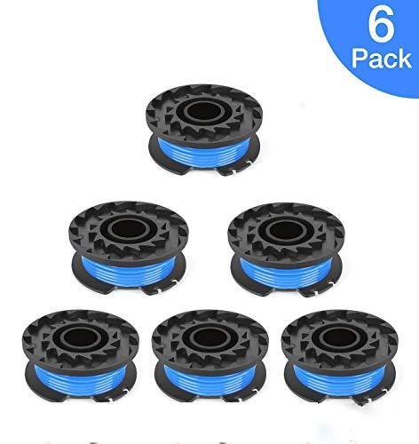 Tokenhigh Lot de 6 bobines de rechange pour coupe-bordures sans fil Ryobi 18 V, 24 V et 40 V