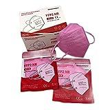 DEVELOMEDYKAL Mascarilla FFP2 Homologada CE, Mascara Rosa Adulto, Protector Facial desechable (Rosa)