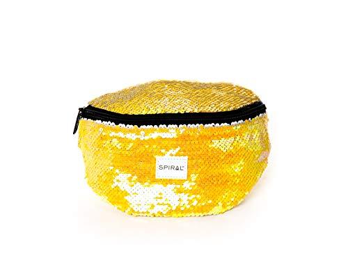 Spiral Mustard Sequins Bum Bag Riñonera de Marcha 23 Centimeters 2 Amarillo (Yellow)