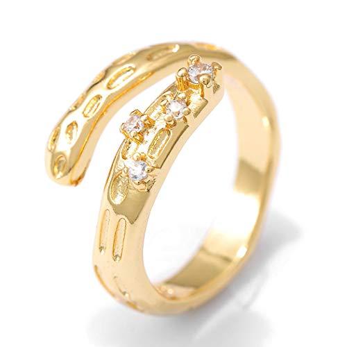 Flrora Anillo de compromiso para mujer, anillo de compromiso, anillo de aniversario, anillo de nudillo, anillo de moda, accesorio de joyería para mujeres y niñas
