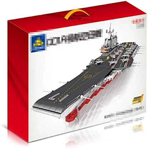 YIJIN Children Building Blocks Aircraft Carrier Children's Educational Spell Insert Small Particles Toy Toy Building Sets
