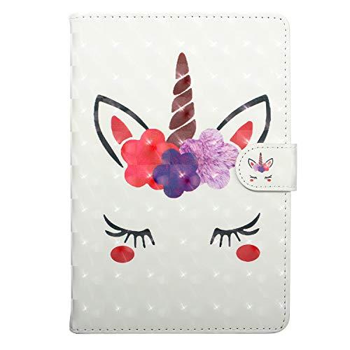 "WDSUN Funda Universal Tablet 9-10.5 Pulgada Protección Carcasa de Cuero Flip Case Cover para iPad Air 10.5,Samsung Tab A 10.1/Tab E 9.6"",Huawei MediaPad T3/T5 10, Lenovo TB-X103F/Tab4 10,Unicornio"