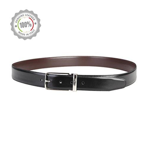 CALVIN KLEIN CK Wendegürtel Leder verstellbar schwarz/braun BW bis 110 cm. NEU