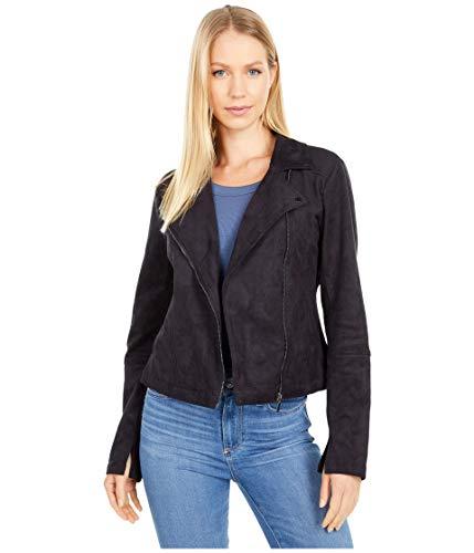 Lyssé Damen Essential Moto Jacket Veloursleder-Jacke, schwarz, X-Large