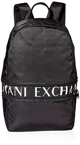 Armani Exchange Herren Backpack Rucksack, Schwarz (Black), 10x10x10 cm