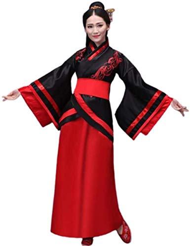 Falda Hanfu de Hanfu de la Antigua China Hanfu Weijin Hanfu Retro Performance Costume Play Cosplay Falda Roja Grande