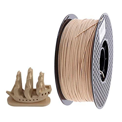 DZWLYX PLA 3D en Bois 0,5 kg Imprimante Filament 1.75mm 1 kg / 500g / 250g Couleur Bois 3D Light Impression Matériaux d'alimentation PLA Dropshipping for l'imprimante 3D (Color : Light Wood 1kg)