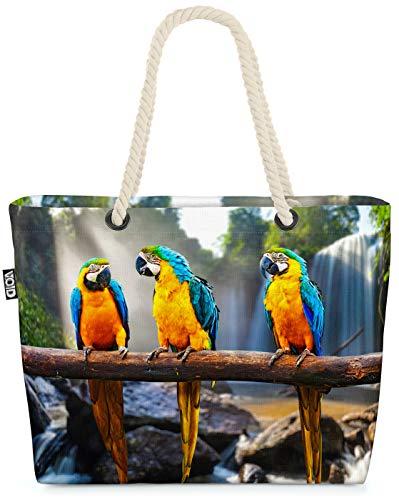 VOID Loro Guacamayo Pecho Amarillo Bolsa de Playa 58x38x16cm 23L Shopper Bolsa de Viaje Compras Beach Bag Bolso