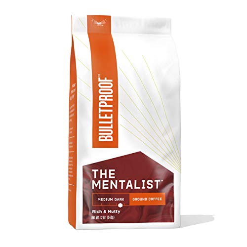 The Mentalist Ground Coffee, Medium Dark Roast, 12 Oz, Bulletproof Keto Friendly 100% Arabica Coffee, Certified Clean Coffee, Rainforest Alliance, Sourced from Guatemala, Colombia & Brazil