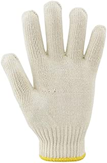 "Work Gloves Encryption Wear-Resistant and Dirty Factory Workshop Protective Gloves, 8""*4"" (Color : White, Size : L-Fifty Pairs)"