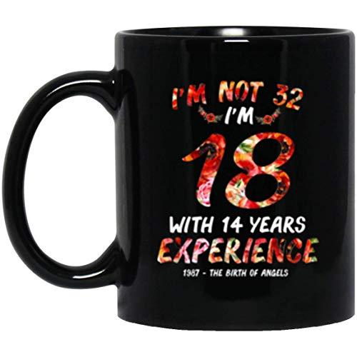 NA 1987 - el Nacimiento de los ángeles 'no Tengo 32' Tengo 18 años con 14 años de Experiencia Taza Floral