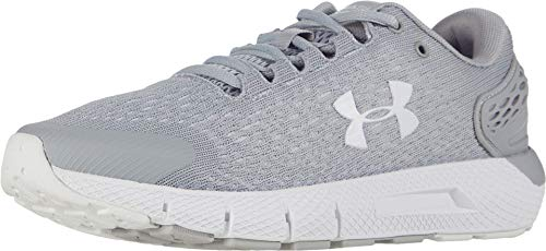 Under Armour Women's Charged Rogue 2 Running Shoe, Mod Gray (104)/White, 8