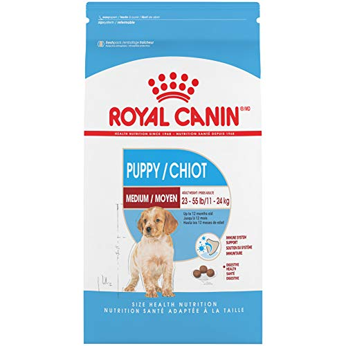 Royal Canin Medium Puppy Dry Dog Food, 17 Pounds.
