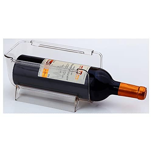 yqs Estantería de Vino 1 unid refrigerador Caja de Almacenamiento Multifuncional Cocina apilable Botella de Vino Rack Restaurante decoración de Almacenamiento apilamiento Estante de Vino