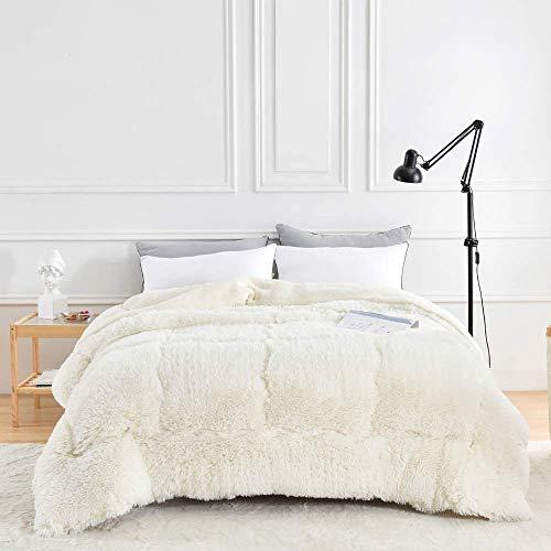 MRTYU-UY Colcha de invierno, colcha de cachemir con tacto cálido de cordero, poliéster, mullido, suave y agradable, 220 x 240 cm