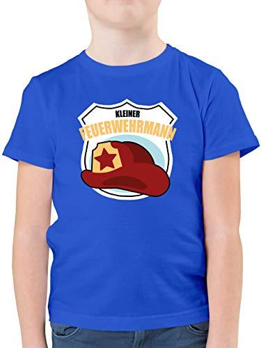 Feuerwehr Kind - Kleiner Feuerwehrmann - 116 (5/6 Jahre) - Royalblau - feuerwehrmann Shirt - F130K - Kinder Tshirts und T-Shirt für Jungen