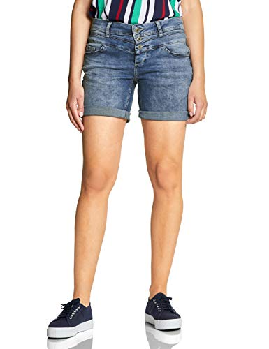 Street One Damen 372327 Kate Bermuda, mid Blue Authentic Washed, W31(Herstellergröße:31)
