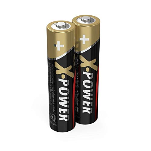 ANSMANN X-Power Alkaline Batterie Micro AAA LR03 Longlife Alkalibatterie für extrem hohen Strombedarf (2er Pack)
