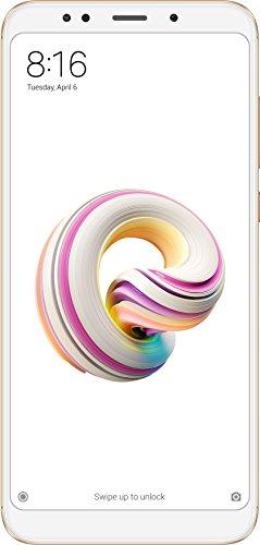 """Xiaomi Redmi 5 - Smartphone DE 5.7"""" HD+ (14 NM Snapdragon Octa-Core, 16 GB, 12 MP, Android) Color Oro [Versión Española]"""