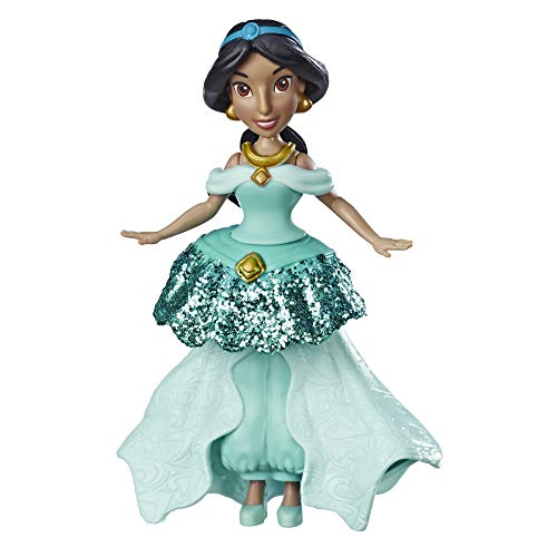 Disney Princess - Jasmine bambola con sistema Royal Clips e gonna con una clip di chiusura