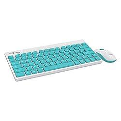 Portronics Key2-A Combo of Multimedia Wireless Keyboard & Mouse, Compact Light-Weight for PCs, Laptops and Smart TV, White,Portronics,Key2 Combo