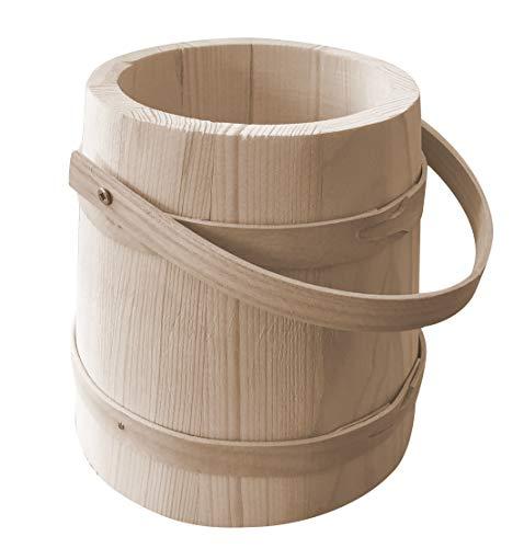 Kleine Houten emmer - Tuin Keuken pot plant kruiden versieren ambachtelijke decoupage