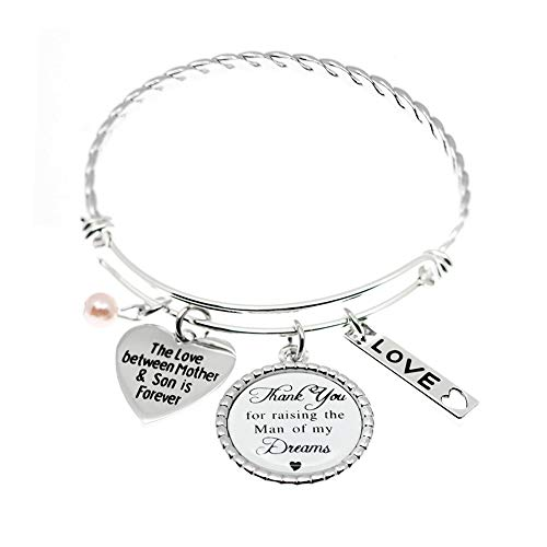 Stainless Steel Mom Gifts from Daughter Bracelet, The Love...
