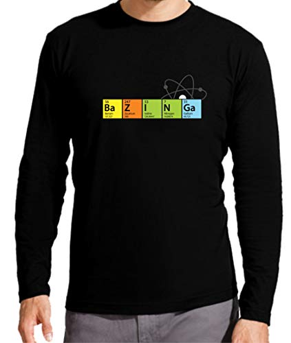 Camiseta Manga Larga de Hombre The Big Bang Theory Sheldon Bazinga Penny Leonard 002 S