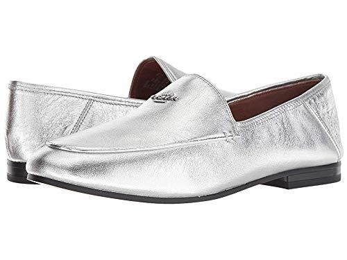 COACH Hallie Metallic Loafer Silver 8 M