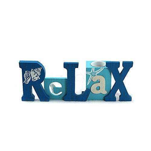 unison gifts SGF-545 Relax Word Candle Holder, Multicolor