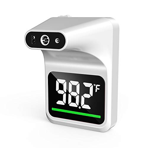 Vibeey Wall-Mounted Body Thermometer, Non-Contact Digital Forehead Thermometer with LCD Color Display for Public, Offices, Factories, Shops, Schools, Restaurants, Subways