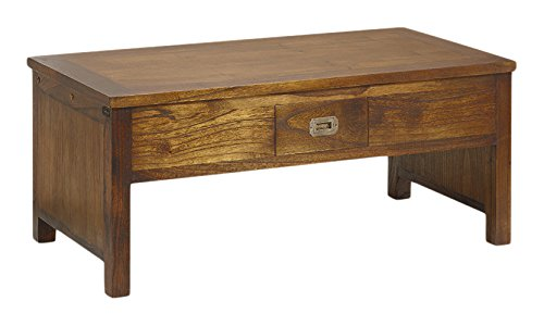 Moycor Star – Table Basse, 2 tiroirs, Dessus relevable, 110 x 56 x 45 cm